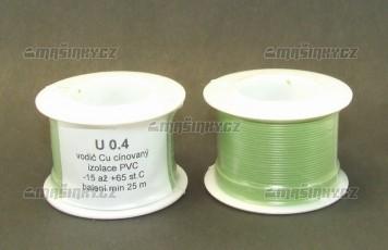 Drát zelený U 0,4  Cu cínovaný - izolace PVC - 25 m