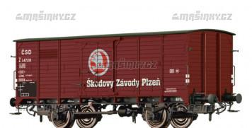 """H0 - Uzavřený vůz Z """"Škodovy závody Plzeň"""" - ČSD"""