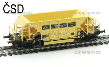 H0 - Vysokostěnný čtyřnápravový vůz Faccpp na přepravu štěrku - ČSD