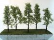 Sada listnatých stromků z merlíku - tmavší odstín