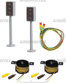 H0 - 2 LED semafory - Faller Car system