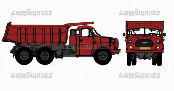H0 - Tatra 148 Dumper červený