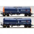 H0 - Set dvou kotlových vozů Zacns Wascosa 88 + JET-A1