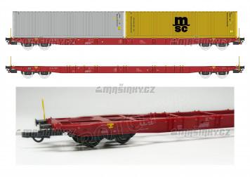 "H0 - Plošinový vůz Sggnss 80´ - 6072-1 ""Metrans"" se dvěma kontejnery - CZ"