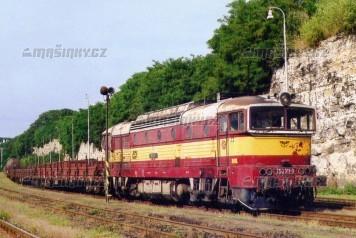 Pohlednice - Lokomotiva 750.311 v Bakově nad Jizerou - červenec 2004