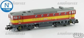 N - Dieselová lokomotiva 750 235 - ČD (analog)