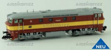 TT - Dieselová lokomotiva řady T 749 - ČD (červená/žlutá) analog