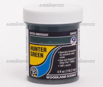 Vodní podklad - lovecká zelená