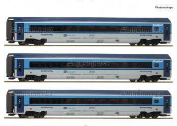 H0 - Třídílný set vozů Railjet - ČD (analog)