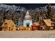 H0 - Vánoční vesnice s osvětlením