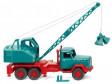 H0 - Jeřábový vůz (Magirus / Fuchs) - modrý