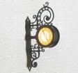H0 - Nástěnné historické hodiny, osvětlené