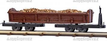 H0f - Nákladní vůz s nákladem pro trať Bush Feldbahn