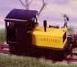 H0e - Dieselová lokomotiva Plymouth černo/žlutý design