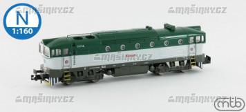 N - Diesel-elektrická lokomotiva 753 127 - ČD (analog)