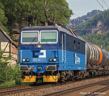H0 - Elektrická lokomotiva řady 372 - ČD Cargo (analog)