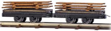 H0f - Dva vozy s nákladem pro trať Bush Feldbahn
