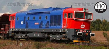 H0 - Dieselová lokomotiva 755 001 - ČD (analog)
