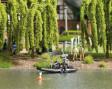 H0 - Jezero s pohyblivou policejní lodí
