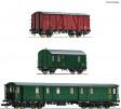 H0 - Set tří vozů stavebního vlaku - ČSD