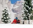 H0 - Sněžný skútr s řidičem