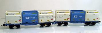 H0 - Set InnoWaggon vozů s nákladem 6 kontainerů ' Innofreight + CD Cargo '