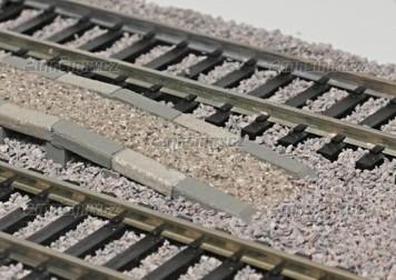 H0 - Sypané nástupiště - ukončovací díl