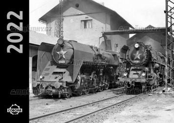 Kalendář nástěnný 2022 - Parní lokomotivy
