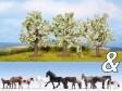 """H0 - Dekorační sada """"Koně a ovocné stromy"""""""