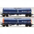H0 - Set dvou kotlových vozů t Zacns Wascosa 98 + JET-A1