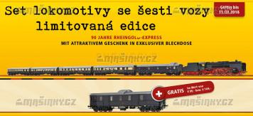 H0 - Rheingold-Express BR01 + šest vozů - DGR (analog)