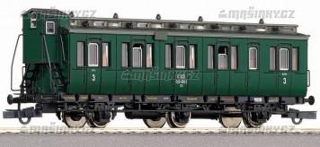 H0 - Osobní vůz 3.třídy typu B3 s brzdařskou budkou - ČSD