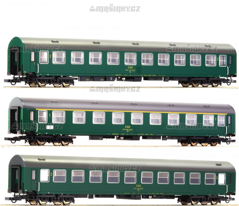 """H0 - Set tří vozů D 375 """"Vindobona"""" - ČSD #1"""