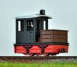 H0e - Pracovní lokomotiva černo/červená