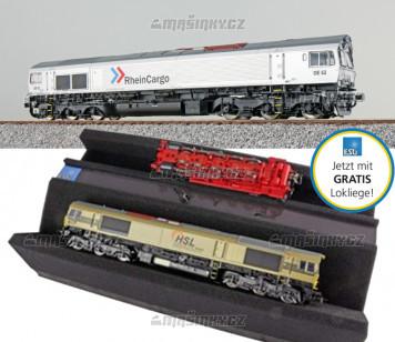 H0 - Dieselová lokomotiva RheinCargo DE 62 (DCC, zvuk, kouř)