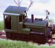 H0e - Dieselová lokomotiva Plymouth černé podvozky/zelená kastle